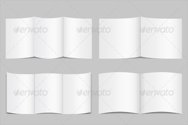 Trifold & Bofold Blank Brochure Template
