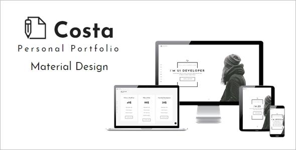 Unique Personal Website Theme