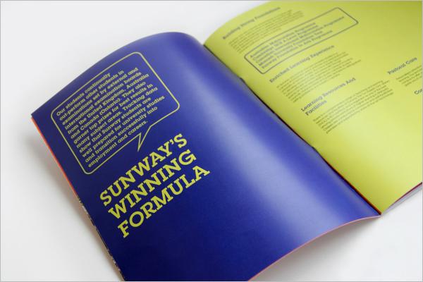University Brochure Vector Template