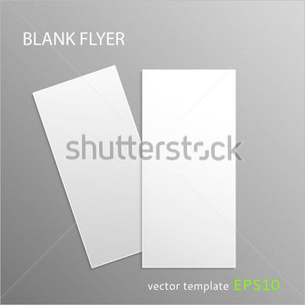 Vertical Blank Flyer Template