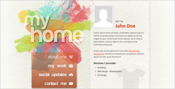 Vibrant Personal Website Template