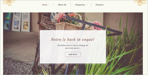 Vintage Blog WordPress Theme
