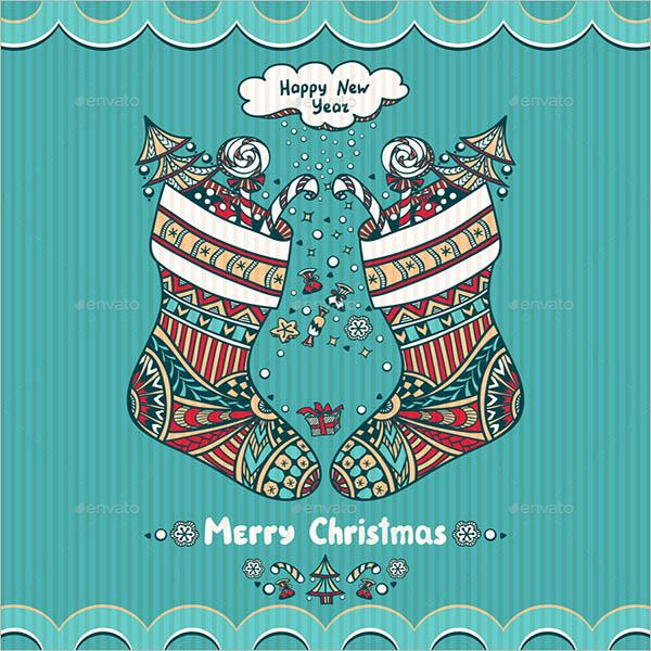 Vintage Christmas Stocking Idea