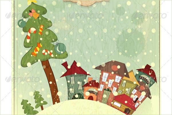 Vintage Christmas Tree Idea
