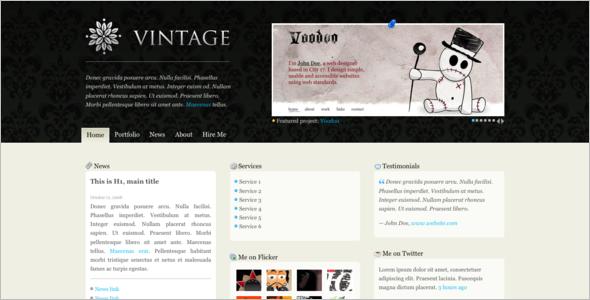 vintage website templates