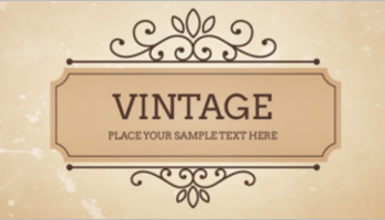 Vintage Website Templates
