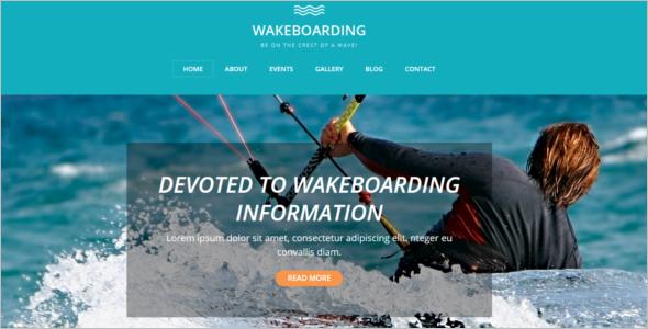 Wake Boarding Drupal Template