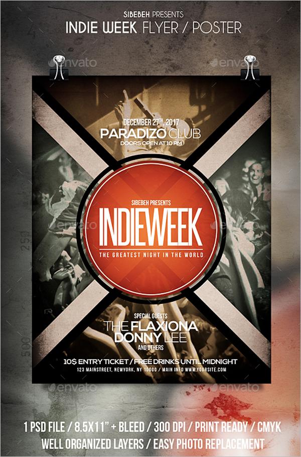 Week Music Poster Template