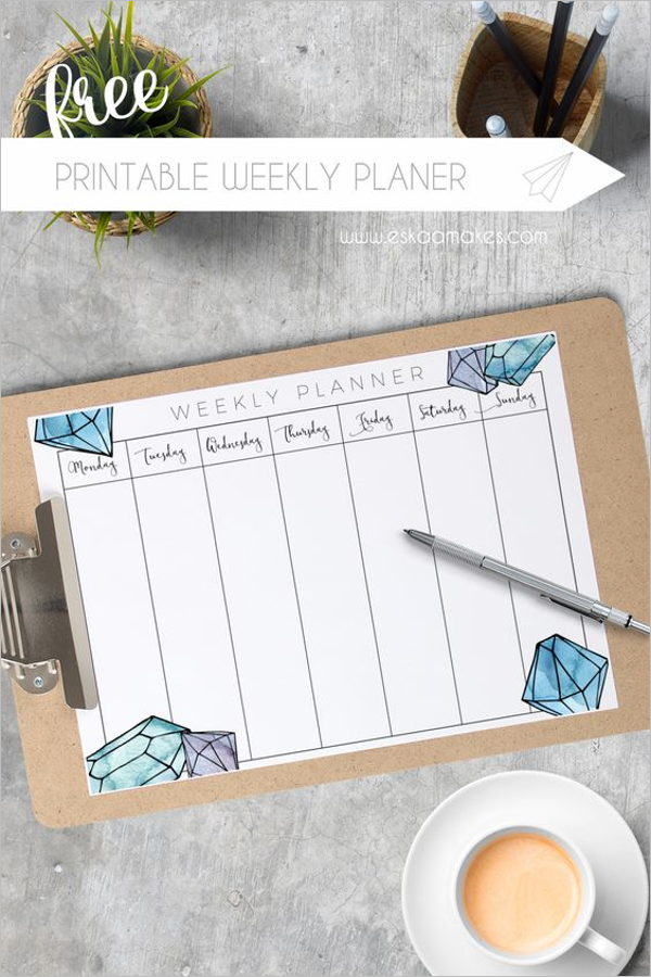 Weekly Planner Format