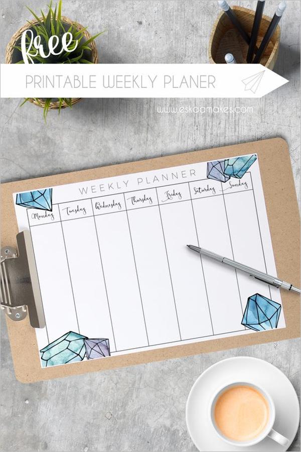 Weekly Planner Format