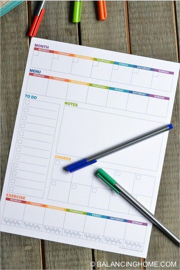 Weekly Study Planning Design