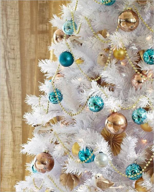 White Christmas Tree Vector Design