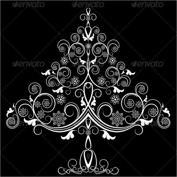 White Christmas Tree with Snowflakes