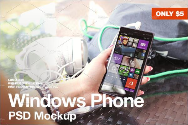 Windows Phone Mockup