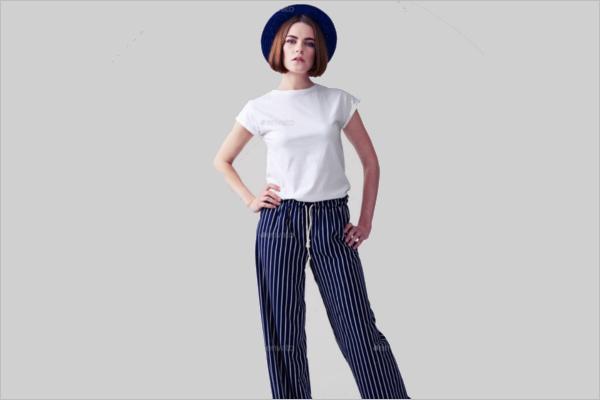 Woman T-shirt Mock-up Design