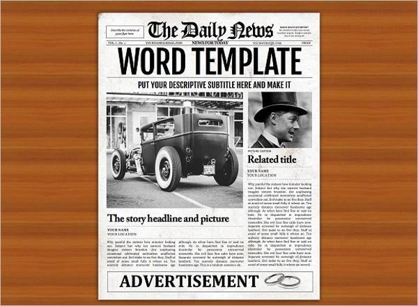 Word Newspaper Flyer Template