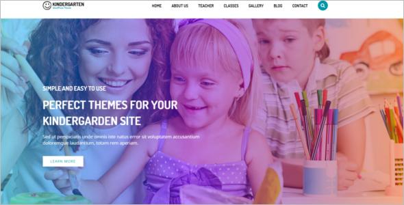 WordPress Theme for Children School