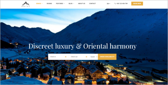 WordPress Theme for Hotel Resort