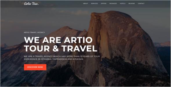 WordPress Tourism Website Template