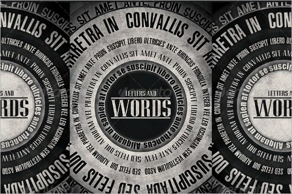 Words Flyer Template