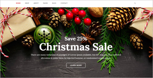 Xmas Gifts Website Template