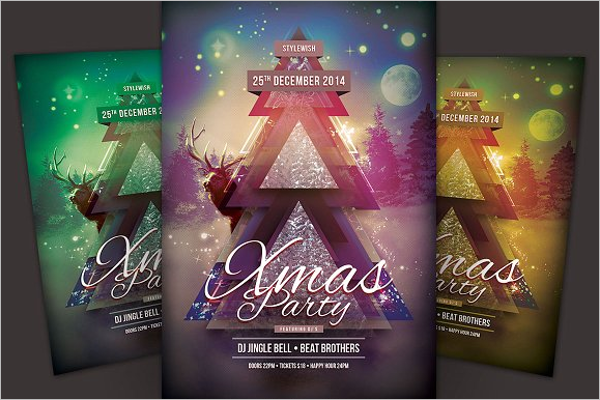 Xmas Party Eve Flyer Template