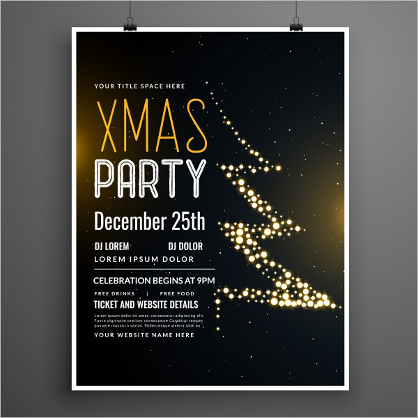 Xmas Party Poster Template