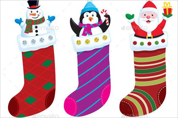 Xmas Stocking Illustration Design