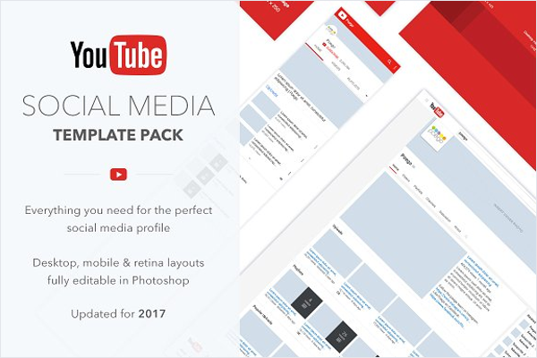 YouTube Social Media Template