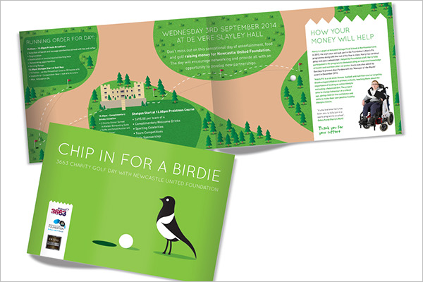 charity golf day brochure
