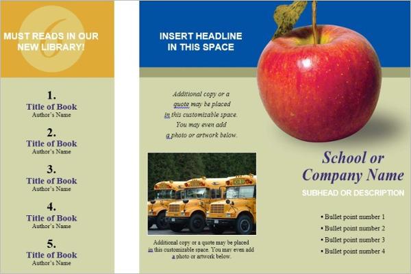 education brochure templates free