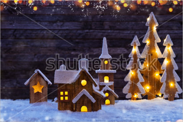 lighting Christmas Village Sets