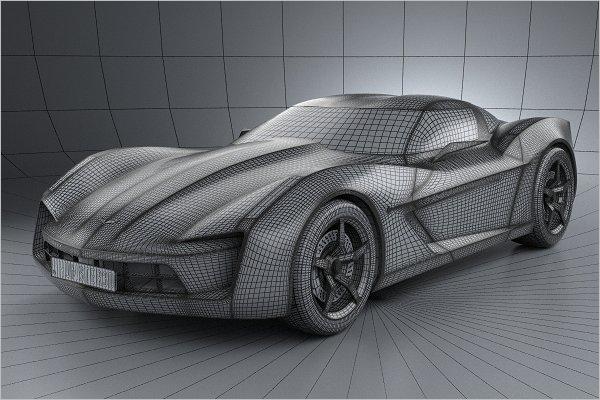 3D Chevrolet Car Design