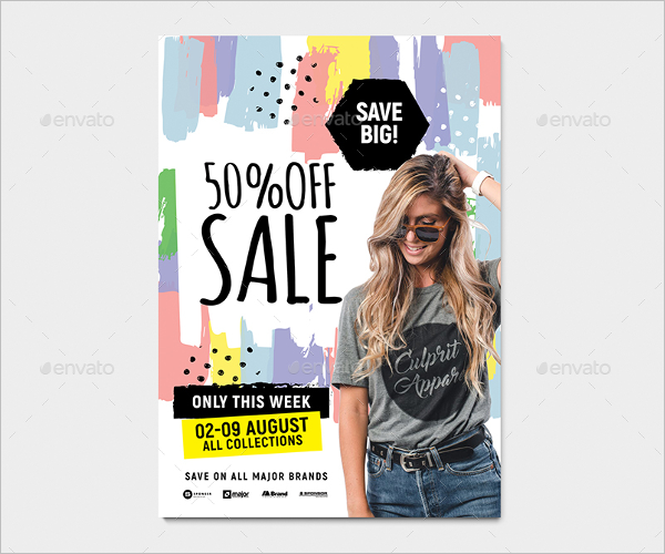 A4 Sale Poster Template