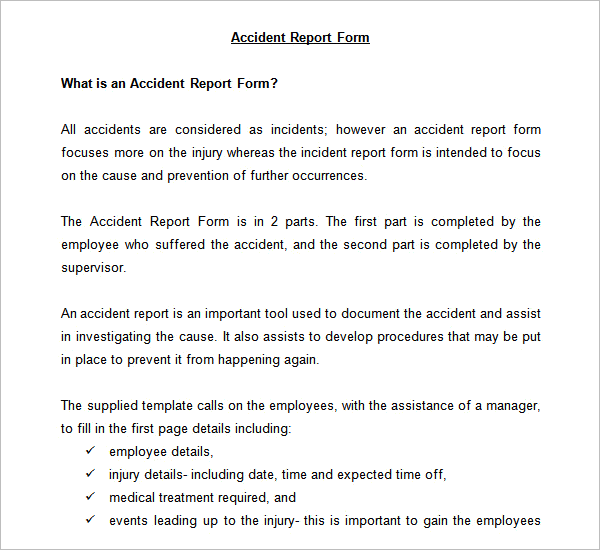 Accident Investigation Report Template