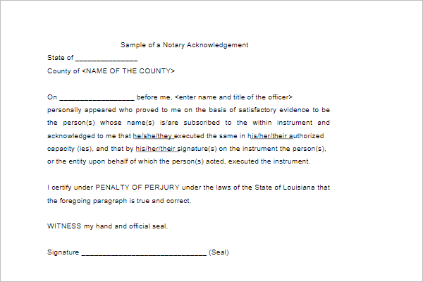 Acknowledgement Letter Template Sample