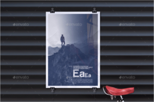 Advertising Poster Mockup Template