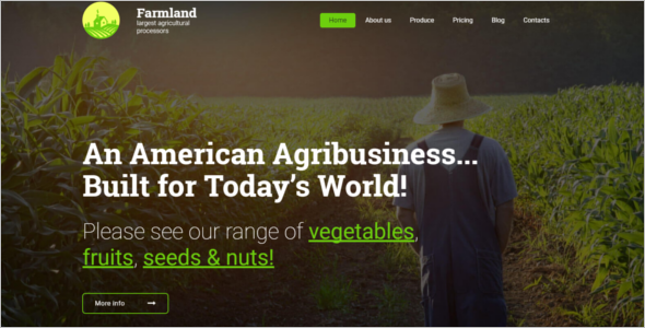 Agro Website HTML5 Template