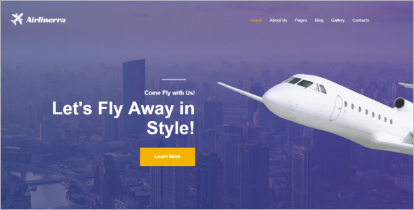 Airline Joomla Template