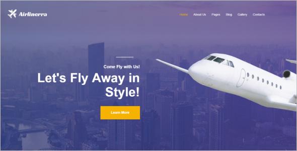 Airline Joomla Template
