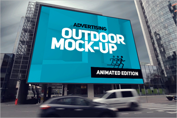 Animated Outdoor AD Mockup Free