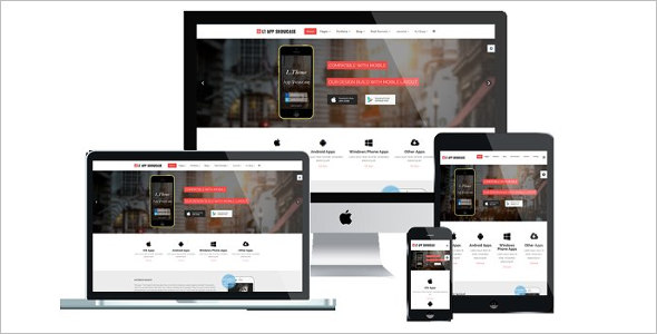 App Showcase Joomla Template