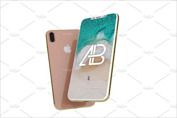 Apple iPhone X Mockup Design