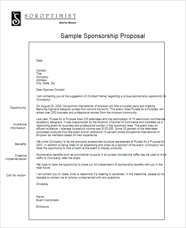 Application Grant Proposal Format