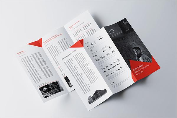 Artist Exhibition Brochure Template
