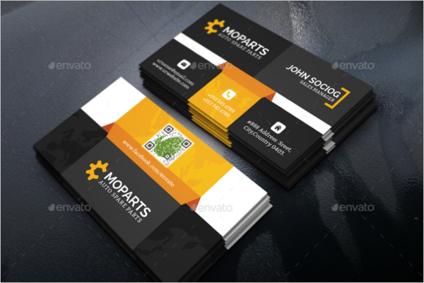 Auto Motive Business Card Holder