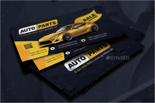 Auto Repair Business Card Design