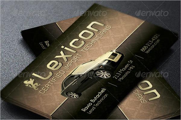 Auto Repair Business Card Template