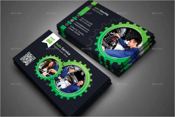 Auto Repair Service Business Card Template