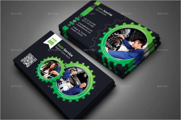 Auto Repair Service Business Card Template